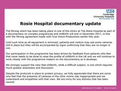 Lessons learned  The aftermath of the Rosie Hospital Incident.