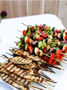 Light up the grill the summer and create some wonderful fresh snacks right there in the midst of the event. That's some good ol' barbeque!