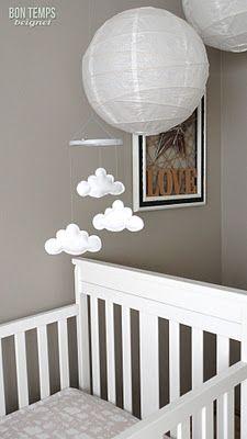 Cloud mobile...so cute for a nursery.