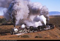 RailPictures.Net Photo: 3684 & 4072 South African Railways Class 24 2-8-4 & GMAM 4-8-2 + 2-8-4 garratt at Riversdale, Western Cape province, South Africa by Eugene Armer