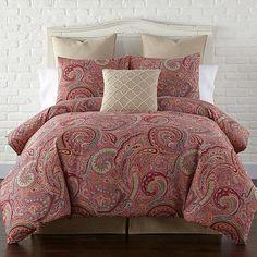 Levtex Home Spruce Cotton Duvet Cover Set Red Duvet Cover, Best Duvet Covers, King Duvet Cover Sets, Simple Bedroom Design, Black Bed Linen, Bedroom Red, Master Bedroom, Master Suite, Luxury Bedding Sets