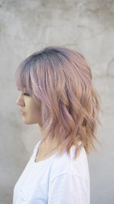 Pink hair Silver roots