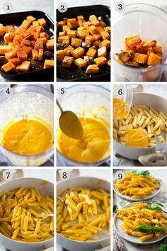 Creamy butternut squash pasta made with roasted butternut squash, garlic and parmesan. Utterly moreish, and healty comfort food! Veggie Recipes, Baby Food Recipes, Vegetarian Recipes, Cooking Recipes, Healthy Recipes, Yam Recipes, Dinner Recipes, Potato Recipes, Butternut Squash Pasta Sauce