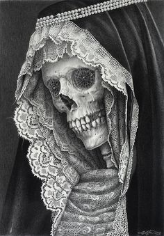 Graphite pencil drawing by New York born, London based artist Laurie Lipton amazing #art