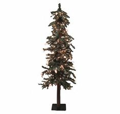 small frosted alpine artificial christmas tree 1 - Mini Artificial Christmas Trees