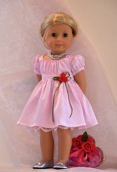 18 inch, American Girl  Doll Clothing. Valentine's Day / Daddy Daughter Dance Ensemble.. $55.00, via Etsy.