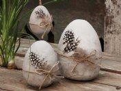 påskpynt-i-betong Eggs, Antiques, Chic Antique, Vintage, Timber Wood, Dekoration, Grey, Antiquities, Antique