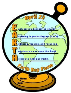 Earth Day Acrostic Poem Student Example