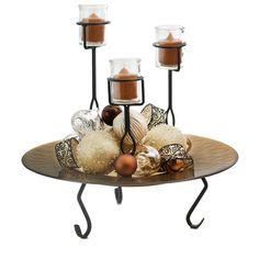 Amber Centerpiece Platter & Stand Item MG7416M46SB - The perfect centerpiece for your holiday party!