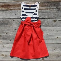 stripes and bold red  #parisian #summer dress #red dress
