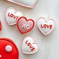 Valentine's Day Mini Iced Cookies