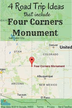 Four Roadtrip Ideas That Include Four Corners Monument - Suitcases and Sippy Cups