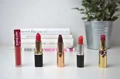 Top 5 red lipsticks Red Lipsticks, Beauty, Tops, Beleza, Shell Tops, Cosmetology