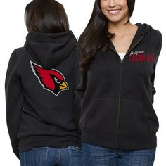Arizona Cardinals Ladies Game Day Full Zip Hoodie - Black
