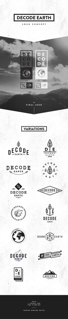 Decode Earth - Logo - Pitch by Faridz Design Suite, via Behance