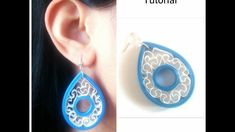 How To Make Quilling Earring Tutorial /Design 42