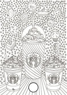 Starbucks Logo Colouring Pages Starbucks Wallpaper