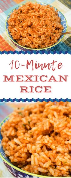 10 Minute Mexican Rice 10 Minute Mexican Rice is a great quick side dish for your next Mexican night. You can whip up this Mexican Rice recipe in about 10 minutes. My nephew says this is the best rice ever! And I agree. Taco Side Dishes, Mexican Side Dishes, Quick Side Dishes, Food Dishes, Side Dish For Tacos, Minute Rice Recipes, Easy Rice Recipes, Rice Recipes For Dinner, Spanish Rice Recipe With Minute Rice