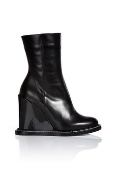 Jill Sander Leather Wedge Ankle Boots