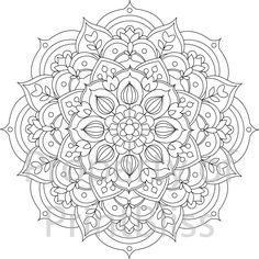 30. Flower Mandala printable coloring page. by PrintBliss on Etsy