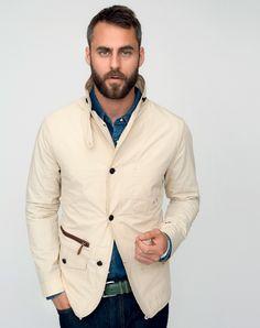 Winter White Cotton Jacket / Marschall Artist, Men's Spring Summer Fashion.
