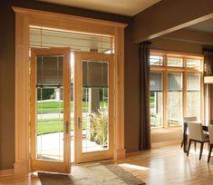 Murphy Beds, Stores Porte Patio, Store Lamelle, Hinged Patio Doors, Door Design, House Design, Patio Door Blinds, Store Venitien, Exterior Doors With Glass