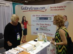 Go Dry Erase trade show booth at the 2013 WBENC National Conference and Business Fair in Minneapolis, Minnesota.