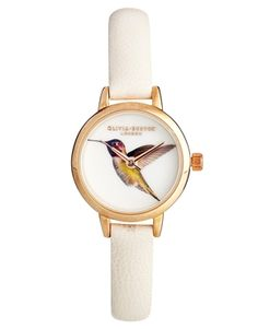 Image 1 ofOlivia Burton Cream Hummingbird Woodland Watch