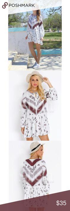 Spotted while shopping on Poshmark: NWT. Long sleeve vintage print dress! #poshmark #fashion #shopping #style #Dresses & Skirts