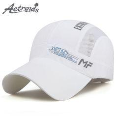 a36bc5ee1e8 AETRENDS  2017 Summer Sun Hats Mesh Baseball Cap Men Women Travelling Quick  Dry Snapback Caps