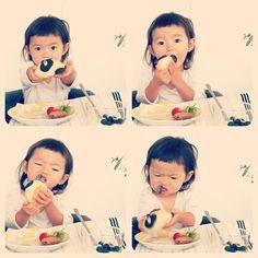 Dein Kind mit einer Grimes-Frisur isst so.