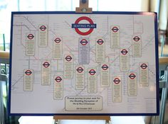 An original, stylish, fun and eye-catching table plan that's based on the London underground map theme. We had this at our own wedding and it