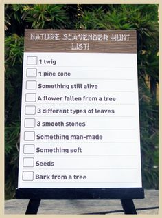 Editable Scavenger Hunt from my printable camping party collection