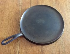 Old Cast Iron Griddle Antique Wagner Ware Sidney by AStringorTwo