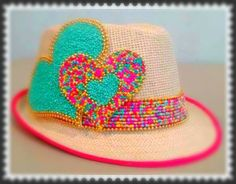 Floppy Hats, Crazy Hats, Unicorn Crafts, Diy Hat, Outfits With Hats, Branded Bags, Diy Arts And Crafts, Hats For Women, Valentines