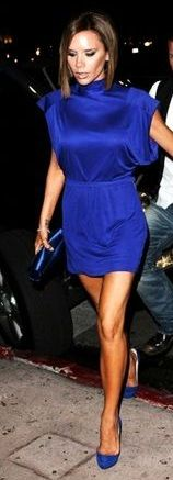 What a gorgeous dress and such an amazing blue