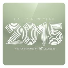 Creative Happy New Year Design Free Vector from vecree.com #newyear #2015