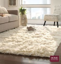Major fluffy softness going on here. Can't get enough of a 100% New Zealand wool rug. Its softness comes from being washed in the waterfalls of the Pindus Mountains. Great for nurseries, living rooms and bedrooms, this hand-woven flokati rug not only feels great underfoot but is also oh-so-stylish. Pairs well with neutral furnishings. Enjoy a comfy rug like this in your home. Available at Home Decorators Collection.