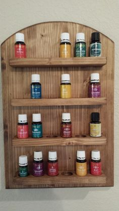 Essential Oil Wall RackHanging Display Solid by FourJarvisBirds, $45.00