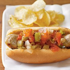 Chow-chow is a traditional Southern relish of summer vegetables cooked in a vinegar mixture. Serve with beans, field peas, ham, grilled...