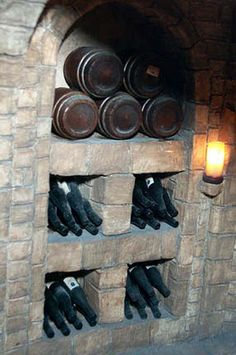 dollhouse miniature wine cellar