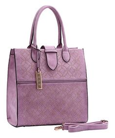 Orchid Geometric Perforated Tote  zulilyfinds Backpack Purse d5570c967e