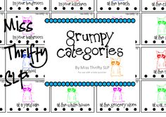 Miss Thrifty SLP: Are you feeling a little grumpy? Grumpy category activity for end of school year. Pinned by SOS Inc. Resources http://pinterest.com/sostherapy.