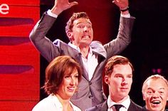 It was adorable.   Benedict Cumberbatch Photobombed His Own Waxwork Last Night And It Was Marvellous