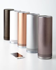 Kinda loving these metallic wireless speakers - great gift for Mother's Day!