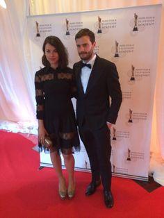 Jamie Dornan with his wife, Amelia. #IFTA2014 pic.twitter.com/JrNFmA1jFL