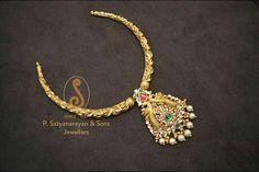 Nakshi work hasli style necklace