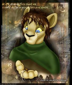"""""""The Lion King"""" meets """"The Lord of the Rings"""" (Frodo)"""
