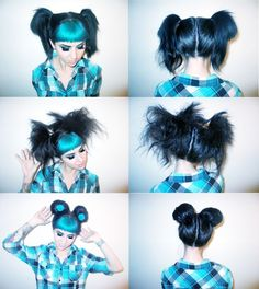 Fun with funky blue hair