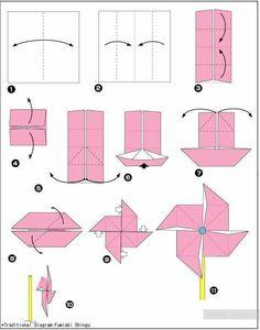 - Origami - Origami - Moulin à vent - Difficile Origami - Windmill - Hard. Origami Design, Easy Origami Flower, Instruções Origami, Origami Wedding, Origami Paper Art, Origami Butterfly, Origami Ideas, Simple Origami, Oragami